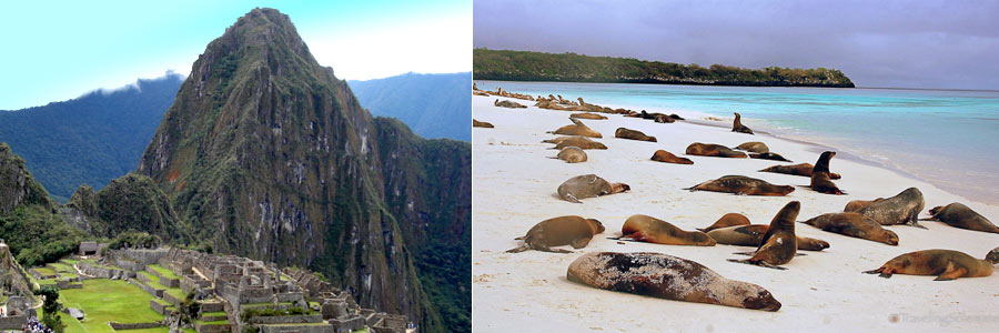 galapagos islands and machu picchu