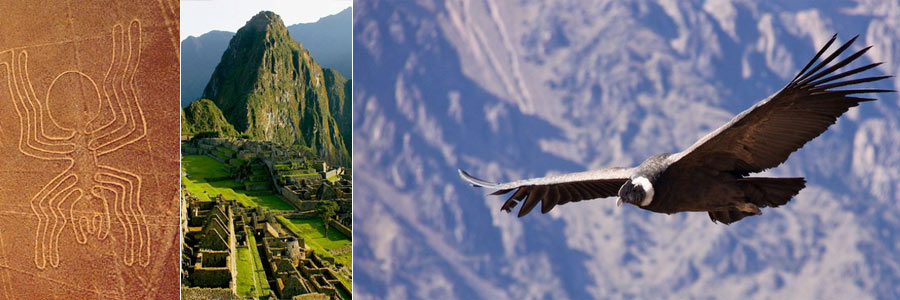 nazca Lines, Colca Canyon and Machu Picchu